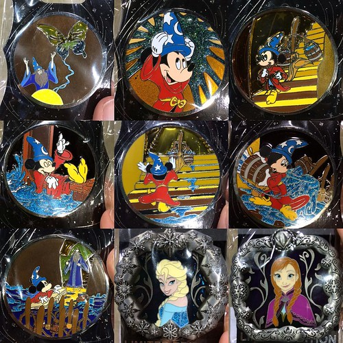 Mickey's of GlendaleのLE300のピン。ファンタジア、魔法使いの弟子のストーリーを追ってる。 #d23expo