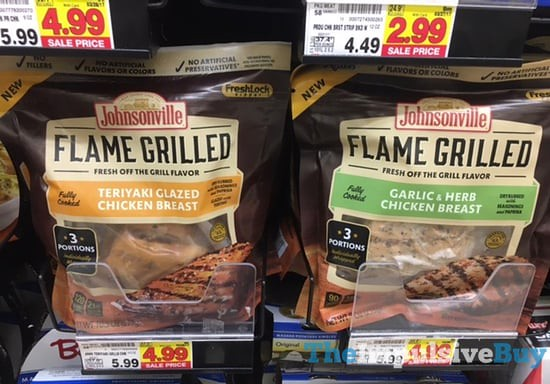 Johnsonville Flame Grilled Teriyaki Glazed and Garlic & Herb Chicken Breast