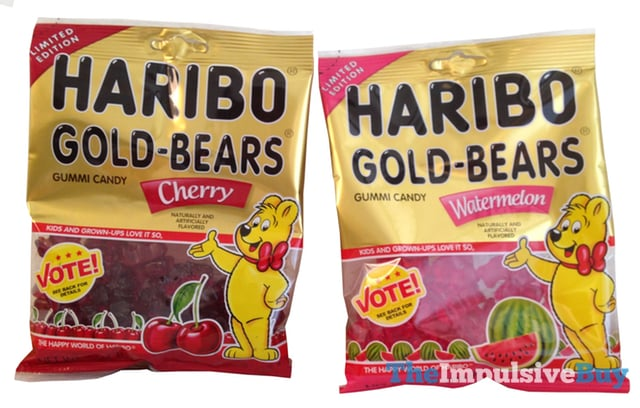 Limited Edition Haribo Watermelon and Cherry Gold-Bears