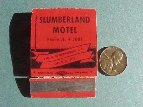 Slumberland Motel Matchbook
