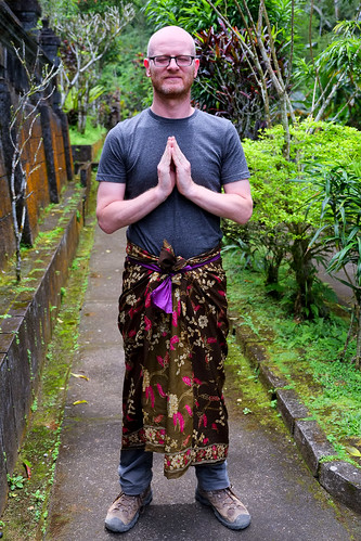 Paul in a sarong.