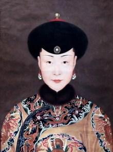 Portrait en buse d'une concubine Jean Denis Attiret