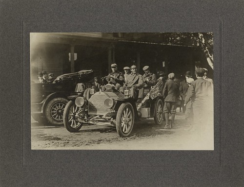 Ty Cobb in Chalmers-Detroit Car 1909 Tour