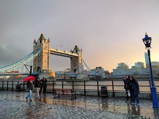 London bridge late afternoon rain