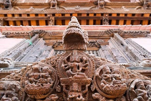 Wood carving. Patan Durbar Square