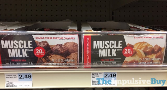 Muscle Milk Double Fudge Brownie and Salted Caramel Protein Bars