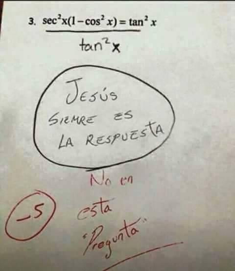 Jesús siempre es la respuesta