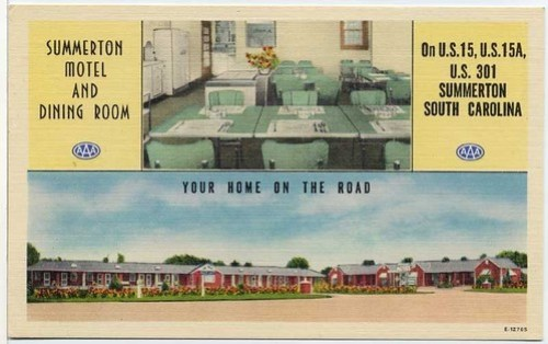 Summerton Motel and Dining Room front