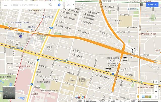 台北市内の旅程