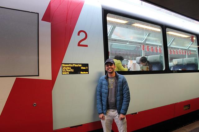 Glacier Express to St Moritz Switzerland zaid outside