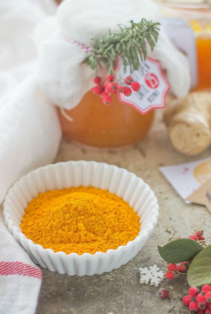 Polvere di arance essiccate
