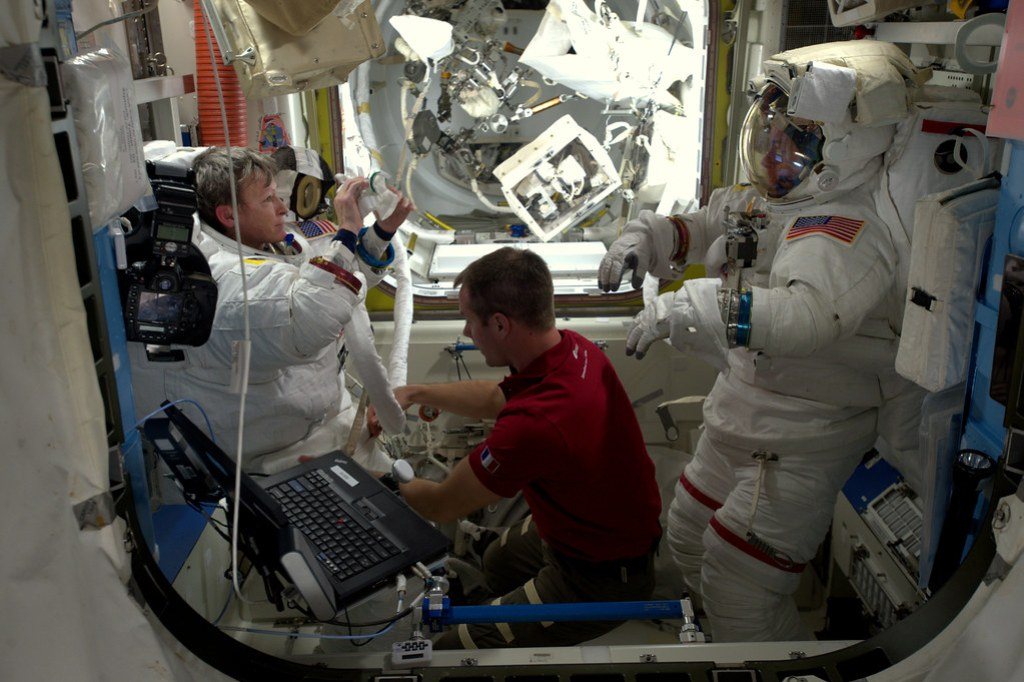 Removing the spacesuit