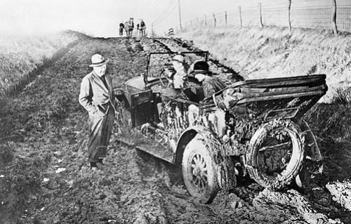 1909 Auto in Mud North Carolina