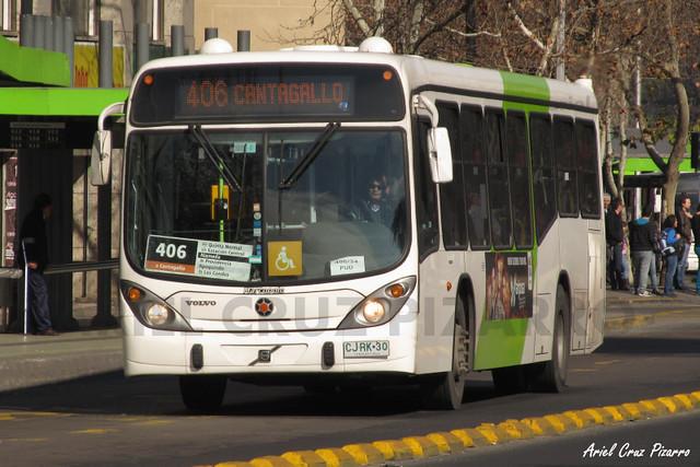 Transantiago - Express de Santiago Uno - Marcopolo Gran Viale / Volvo (CJRK30)