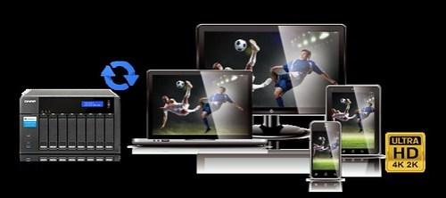 QNAP TVS-871T 4K Transcoding