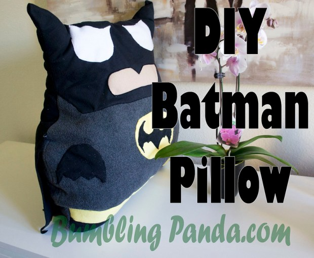 DIY Batman Pillow Sewing Tutorial