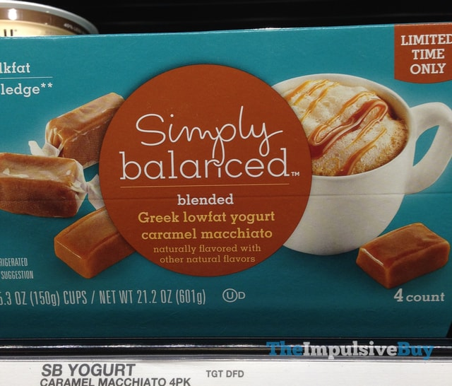 Simply Balanced Limited Time Only Caramel Macchiato Greek Lowfat Yogurt