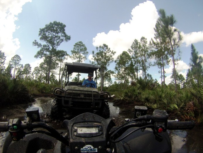 Nothing Runs Like a Deere. Or Nothing Rescues Me Better from the Mud at Florida Tracks & Trails.