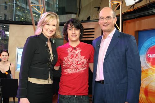 Mel, Teddy and Kochie