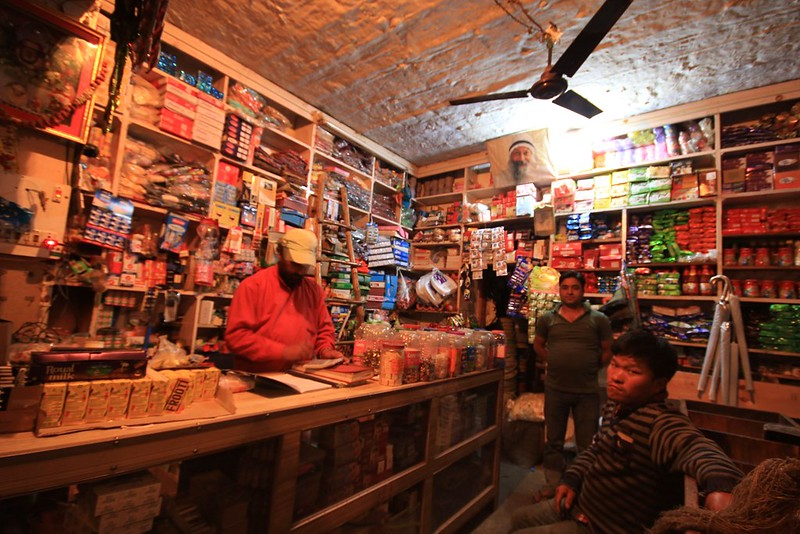 Small shop at Sankri - We purchased ponchos and some water bottles from here.