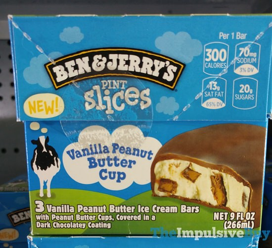 Ben & Jerry's Vanilla Peanut Butter Cup Pint Slices