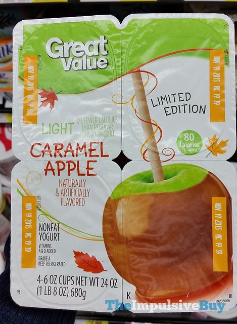 Great Value Limited Edition Light Caramel Apple Yogurt