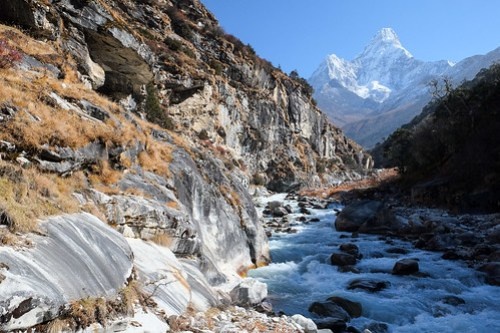 From Ama Dablam to you. Trail from Tengboche to Dingboche