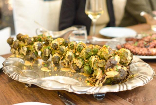 Roasted Brusssels Sprouts espelette aioli, hazelnuts