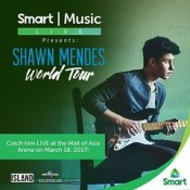 #SmartMusicLive brings Shawn Mendes' #IlluminateWorldTour to Manila this Saturday, March 18, at the Mall of Asia Arena. If you are a #Smart subscriber, you can win VIP tickets, #SmartShawnMendes Soundcheck Party tickets, or the chance to meet and greet @s