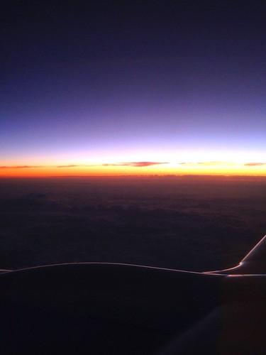 at dusk @女満別〜羽田