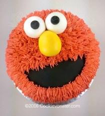 Elmo Face Buttercream cake