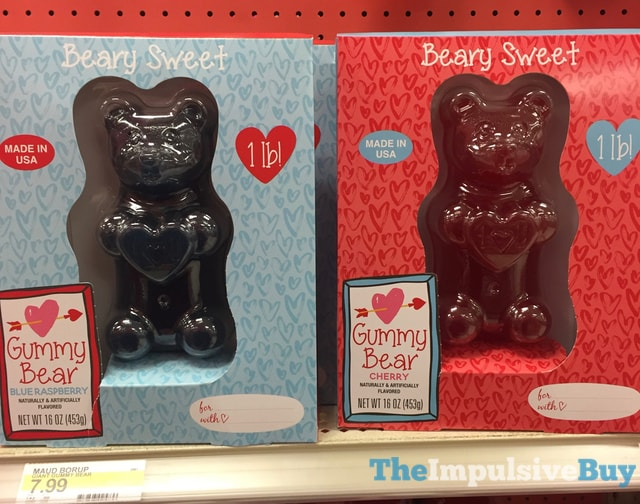 Maud Borup Beary Sweet Blue Raspberry and Cherry 1 LB Gummy Bears