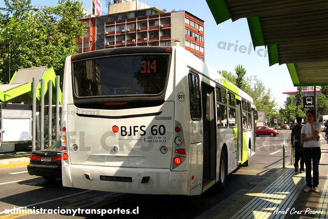 Transantiago - Buses Vule - Caio Mondego H / Mercedes Benz (BJFS80)