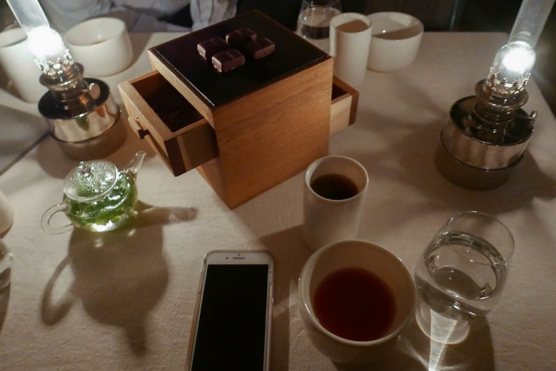 Tea, coffee and mignardises