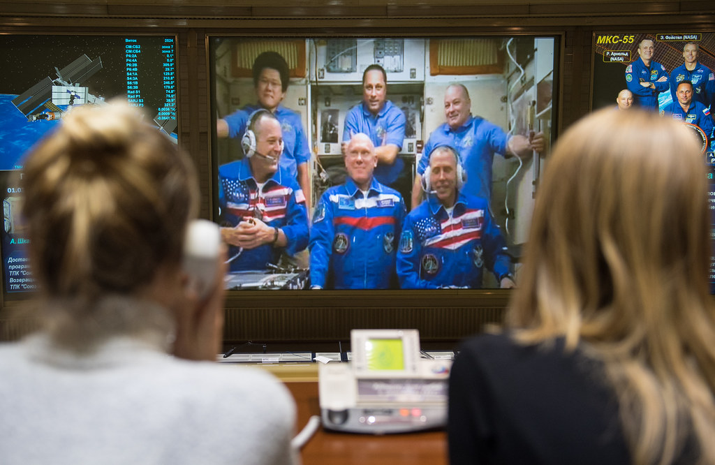 Expedition 55 Soyuz Docking (NHQ201803240009)