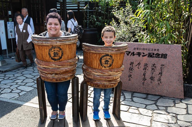 En barricas de salsa de soja de Shodoshima