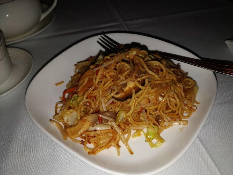 the monogamous Chinese hong kong mid level escalator restaurant noodles