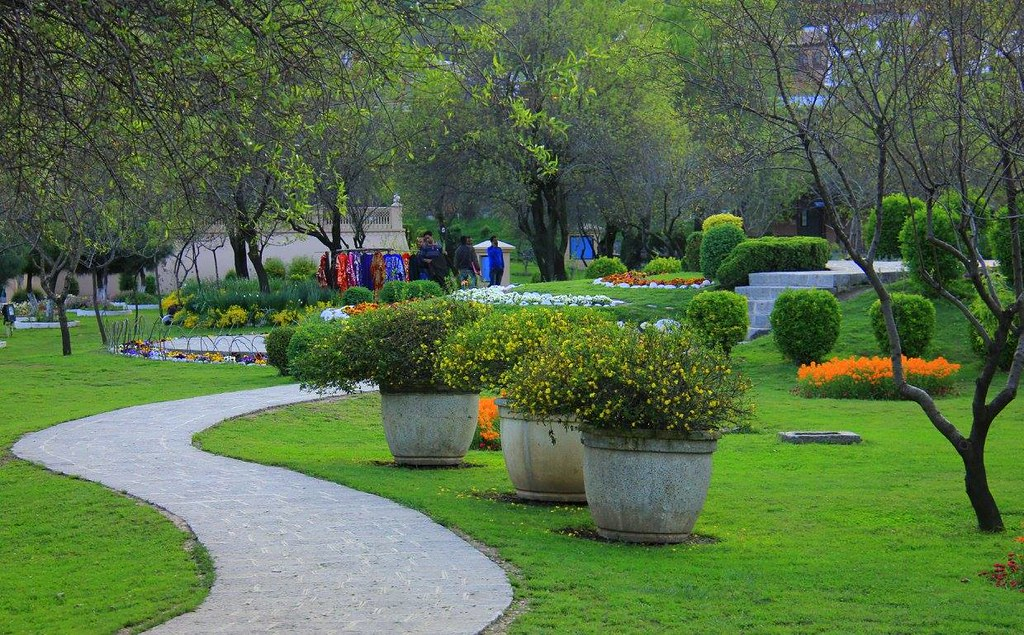 Beautifully restored garden of badamwari in srinagar