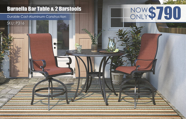 Burnella Bar Table & 2 Stools_P316-130(2)-P456-613