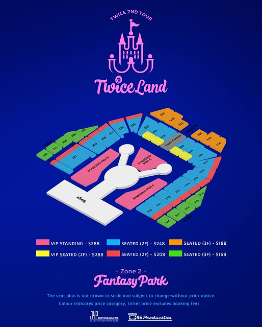 TWICELAND ZONE 2: Fantasy Park in Singapore Seating Plan