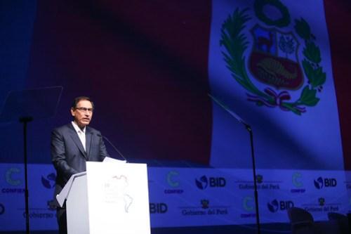 Presidente Martín Vizcarra inaugura III Cumbre Empresarial de las Américas, en el Hotel Westin, en el distrito de San Isidro.