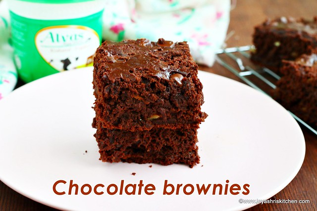 Yogurt brownies