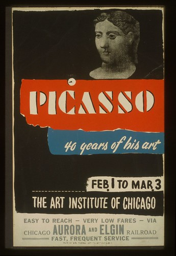 Picasso Poster by Christopher DeNoon, 1941 (LOC/WPA)