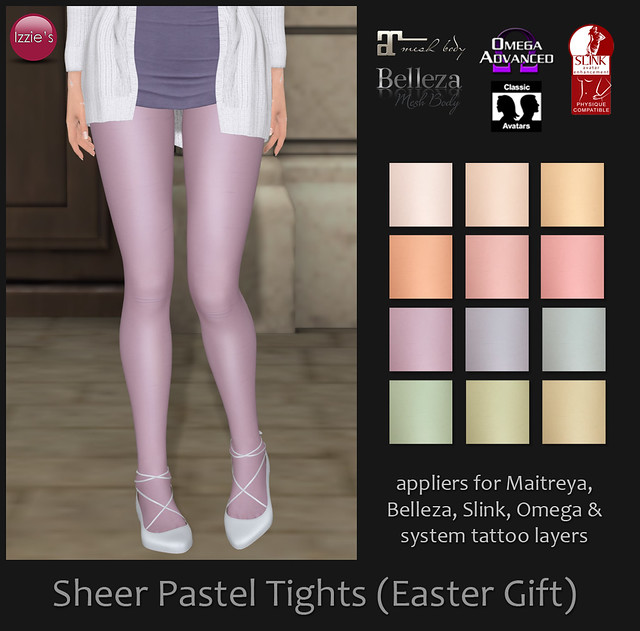 Sheer Pastel Tights (Easter Gift)