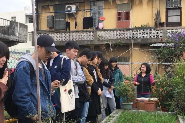 黃琬雯帶領學生去調查基地的照片