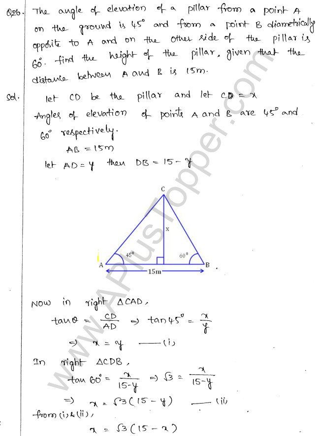 ml-aggarwal-icse-solutions-for-class-10-maths-chapter-21-heights-and-distances-27