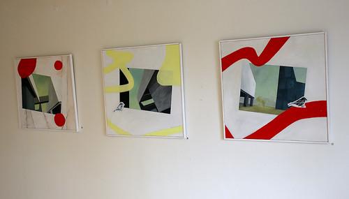 Agneta Östlund – Paper and spots, Lite grann på sné och Disig eftermiddag i Bilbao