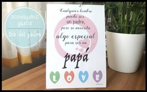 Lámina día del padre. Imprimible gratis