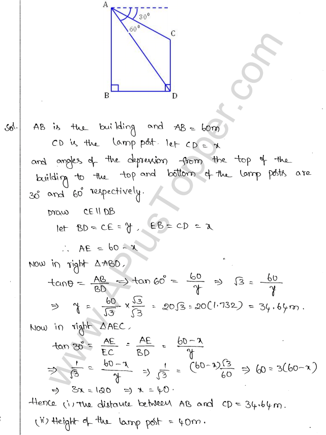 ml-aggarwal-icse-solutions-for-class-10-maths-chapter-21-heights-and-distances-36