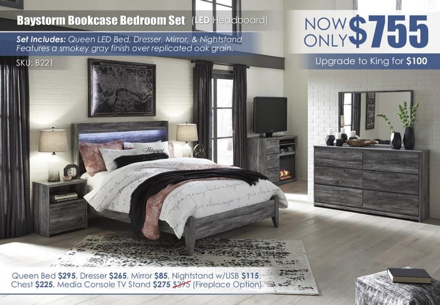 Baystorm LED Bedroom Set_B221-31-36-48-57-54-91